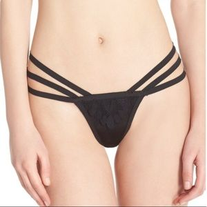 For Love And Lemons Ruby Lace Detail Strappy Thong